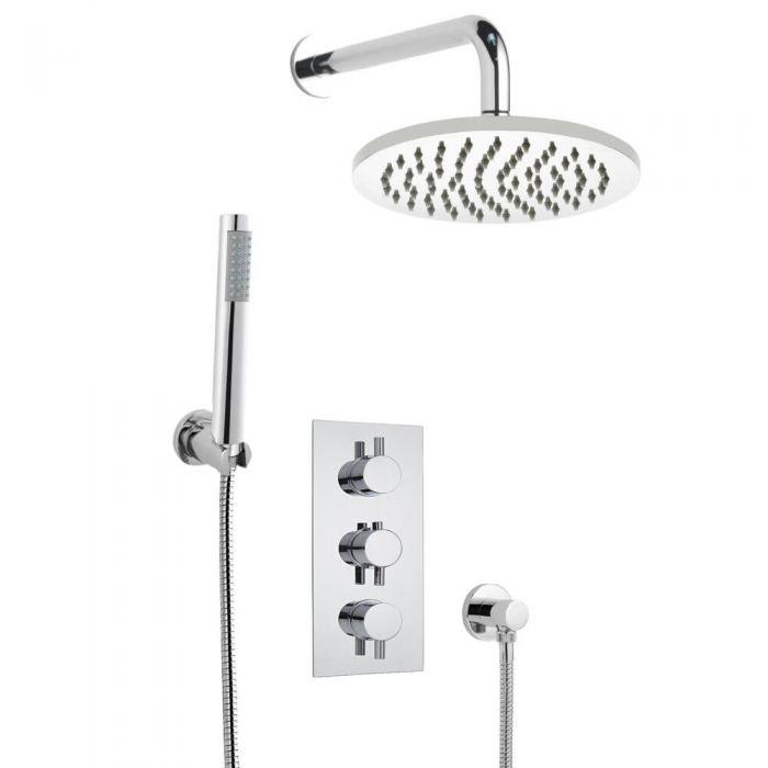 Hudson Reed Inbouw Thermostaatkraan + 20cm Regendouchekop & Handdouche Combinatie