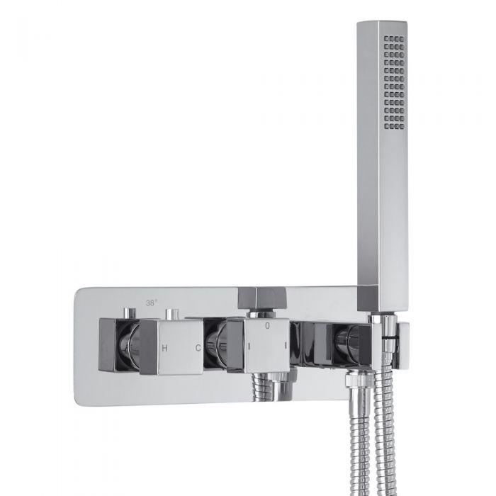 Arvo 2-weg Inbouw Thermostaatkraan met Omstel & Handdouche Set