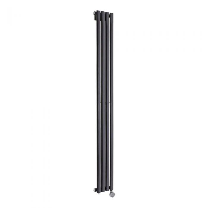 Revive Designradiator Elektrisch Verticaal Zwart 178cm x 23,6cm x 5,6cm
