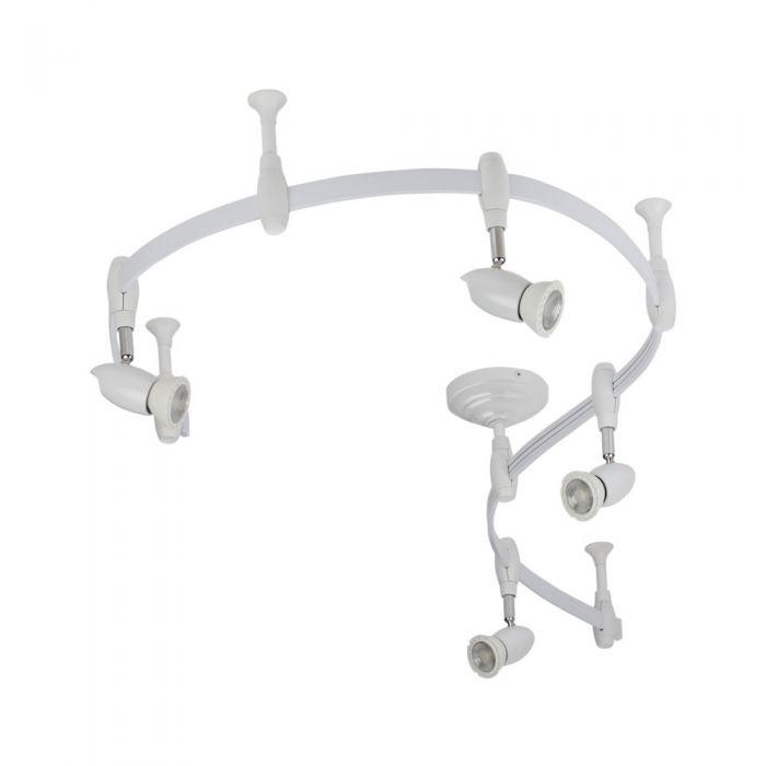 Forio 200cm Flexibele Railverlichting Set incl 4 Railspots GU10 IP20 Wit
