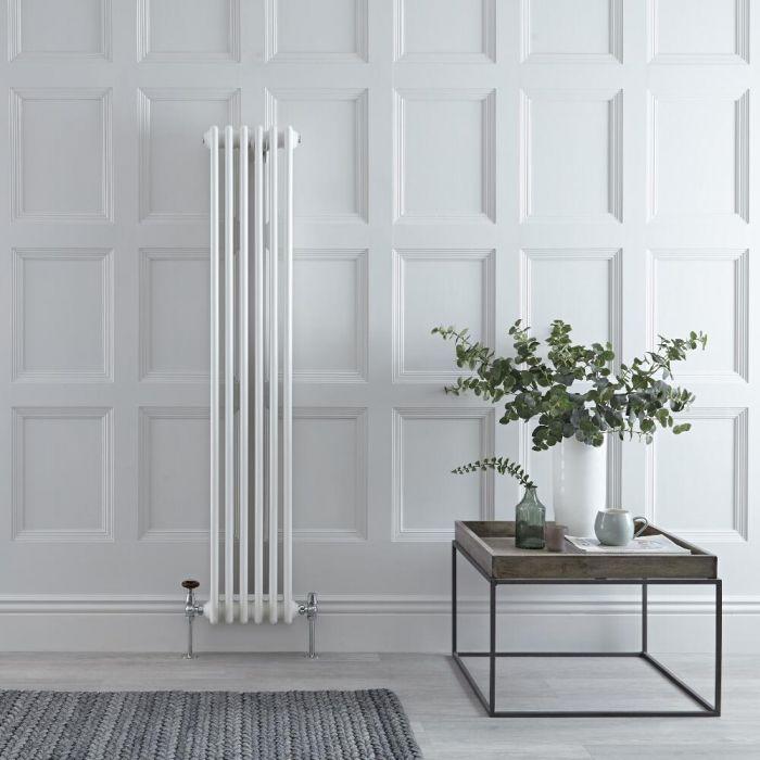 Windsor Designradiator Verticaal Klassiek Wit 150cm x 29,3cm x 6,8cm 822 Watt