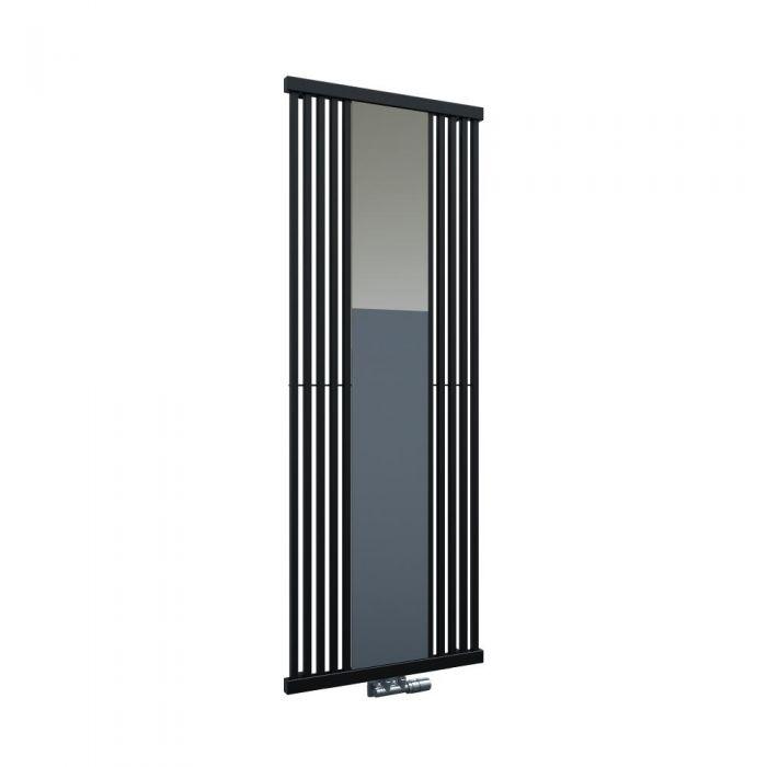 Hudson Reed Lublin Spiegel Designradiator Verticaal Zwart 170 x 64 cm 1172 Watt