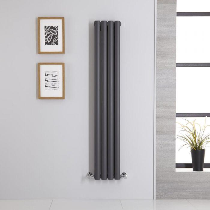 Revive Designradiator Verticaal Antraciet 140cm x 23,6cm x 7,8cm 696 Watt