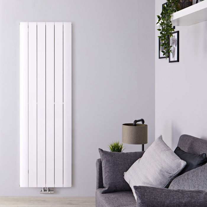 Aurora Designradiator Verticaal Middenaansluiting Aluminium Wit 160cm x 56,5cm x 4,5cm 2042 Watt