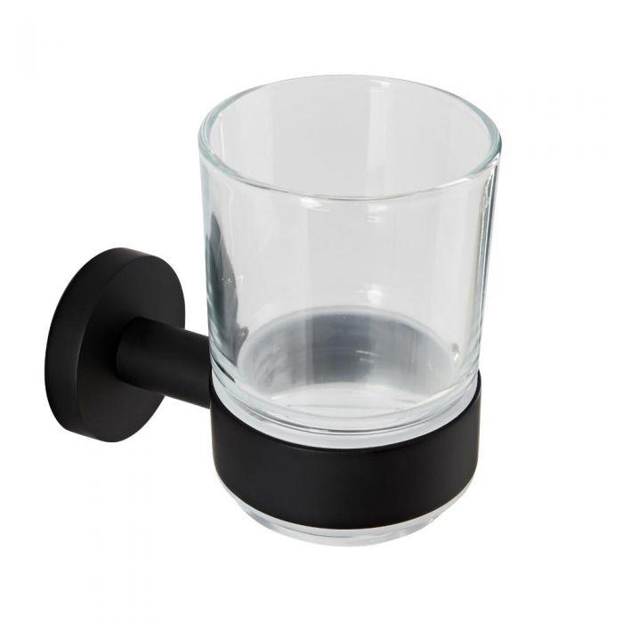 Bekerhouder Incl Glas Mat Zwart | Nox