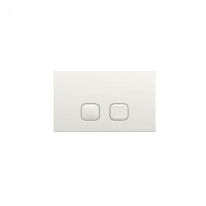Cluo Dubbele Spoelknop Vierkant Wit 15 x 23 x 0,65cm