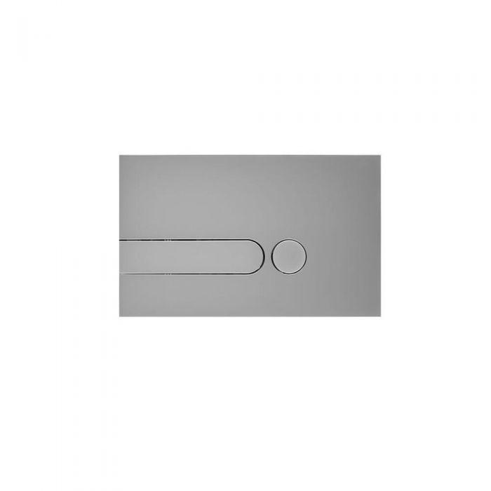 Cluo Dubbele Spoelknop Satijn Chroom 15 x 24 x 0,6cm
