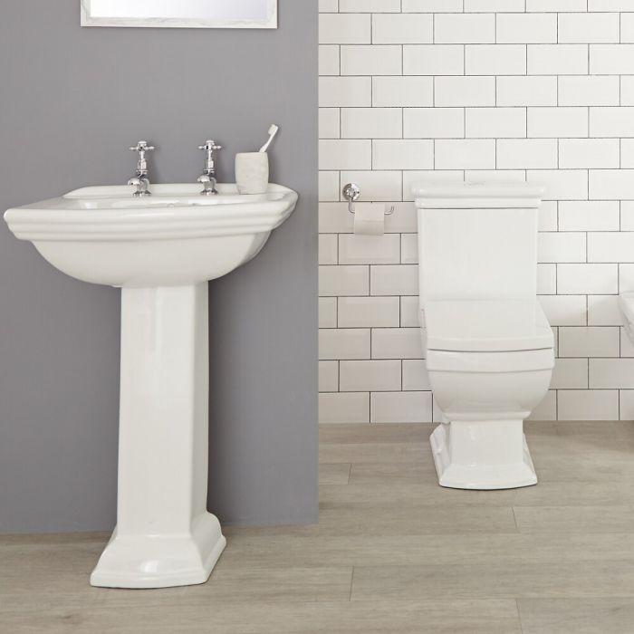 Chester Klassiek Toilet en Wastafel 2 Kraangaten