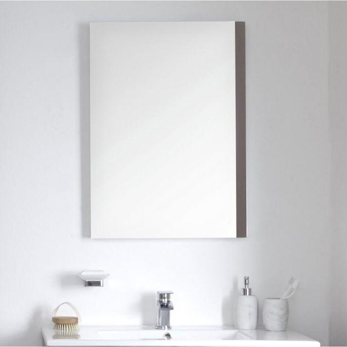 Badkamerspiegel Mat Grijs 50 x 70cm - Newington