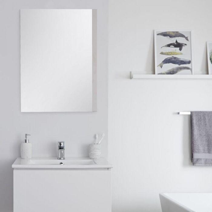 Badkamerspiegel Mat Wit 50 x 70cm - Newington