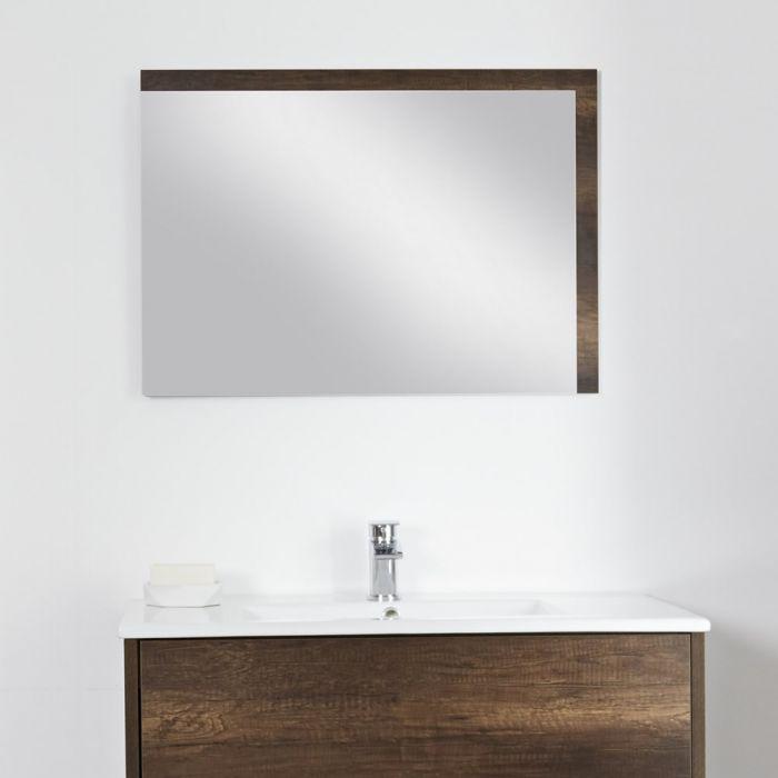 Badkamerspiegel Donker Eiken 70 x 100 cm - Hoxton