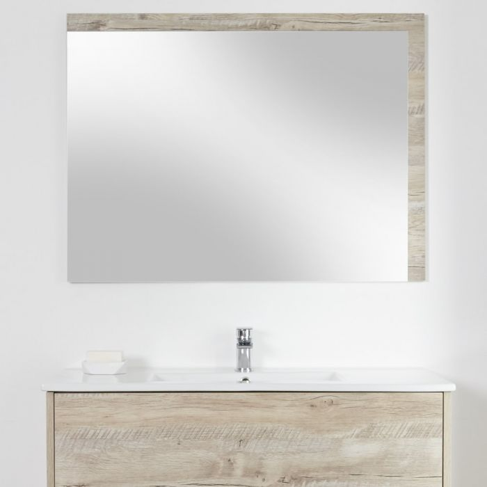 Badkamerspiegel Licht Eiken 70 x 100 cm - Hoxton