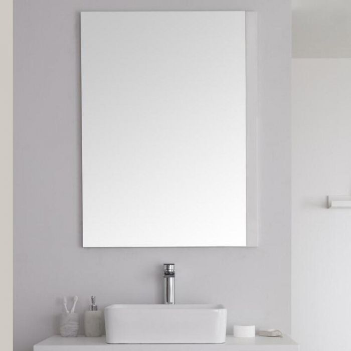Badkamerspiegel Mat Wit 75 x 100cm - Newington