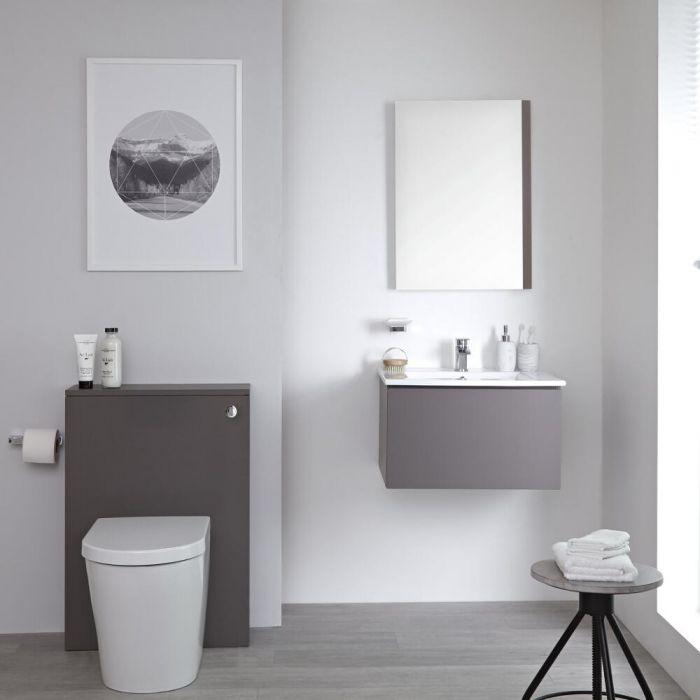 Newington KeramischToilet & Toilet Ombouw Incl Stortbak Mat Grijs