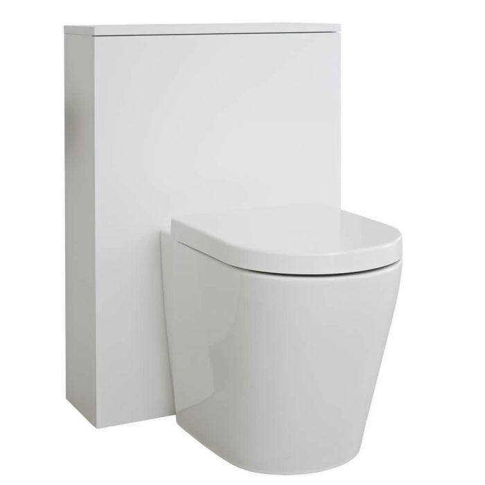 Newington Toilet Ombouw Mat Wit 60cm