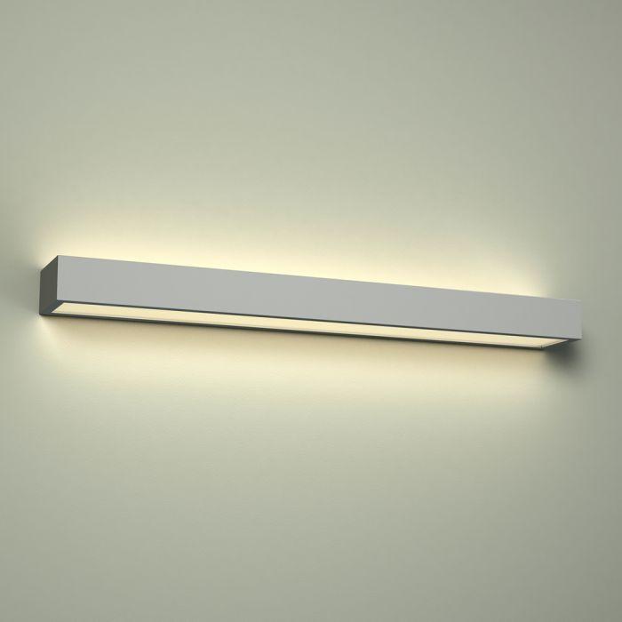 Omega LED Badkamer Wandlamp Vierkant Neerwaarts 60 x 8 x 4.5 cm 18W Chroom LED IP44