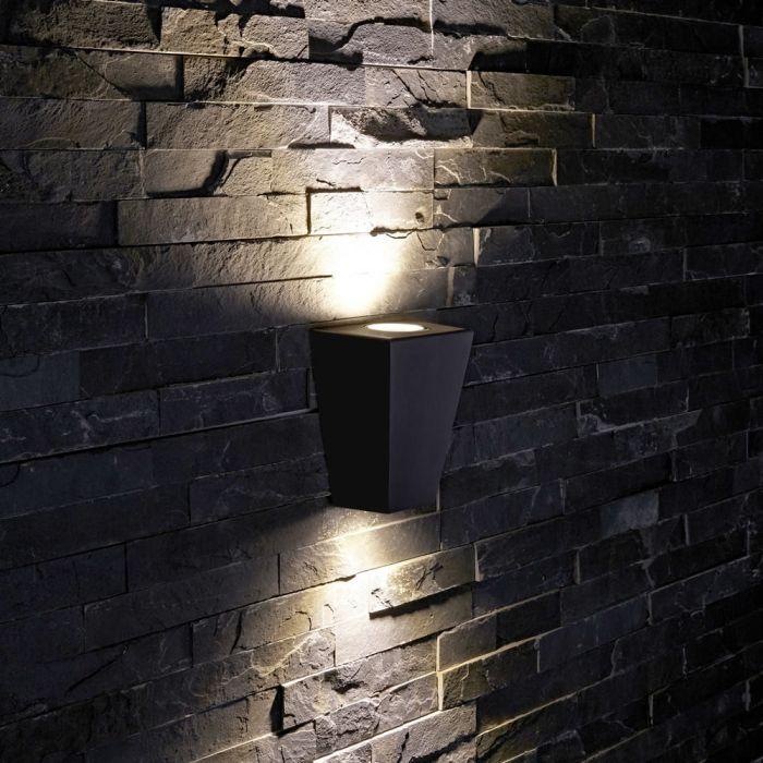 Biard Op- en Neerwaartse Buitenlamp - Zwart - Gehoekt
