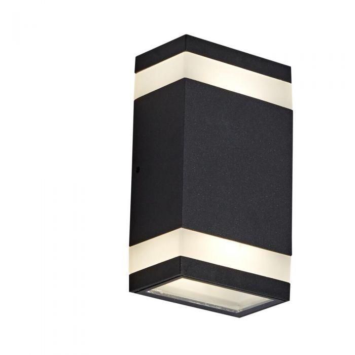 Architect 9W LED Wandlamp Op- & Neerwaarts Binnenshuis IP65 - Verkijgbaar in Zwart & Antraciet