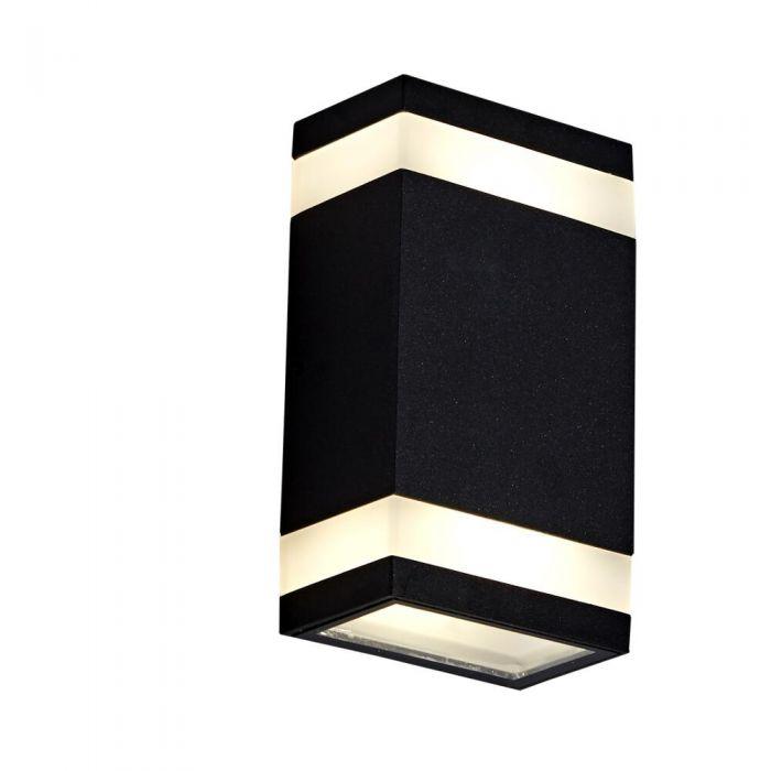 Architect 10W LED Wandlamp Op- & Neerwaarts Buiten IP65 - Verkijgbaar in Zwart & Antraciet