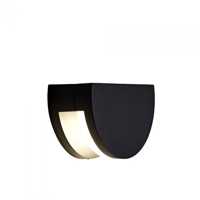 Tun 9W LED Wandlamp Binnenshuis Rond  IP65 - Verkrijgbaar in Antraciet & Zwart