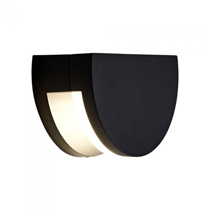 Tun 10W LED Wandlamp Buiten Rond  IP65 - Verkrijgbaar in Antraciet & Zwart