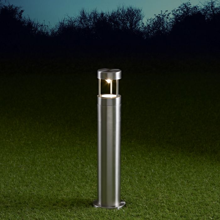 Niort Dimbare Sokkellamp 45cm Hoog RVS IP44 GU10
