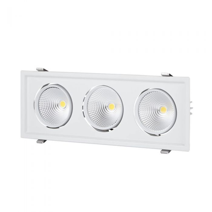 Biard 90W Kantelbare COB LED Inbouwspot met 3 Spots incl Lamp & Driver - Wit