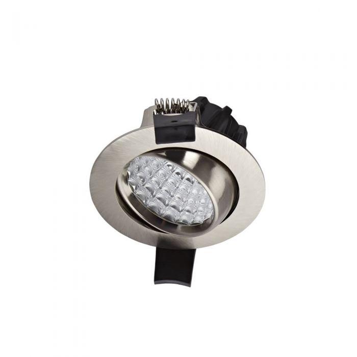Biard 7W Dimbare en Kantelbare LED Inbouwspot incl Lamp & Driver - rvs