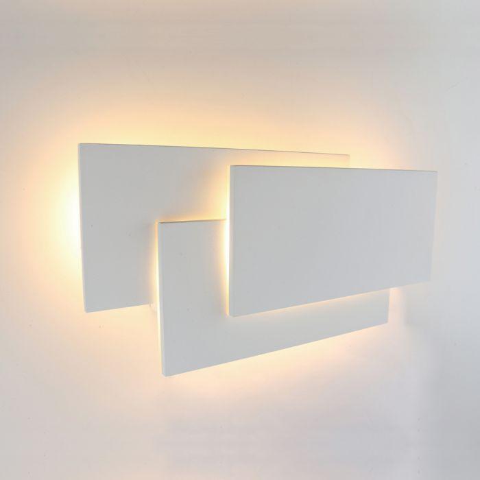 Biard Piran Vierkante Wandlamp Binnen – Wit LED