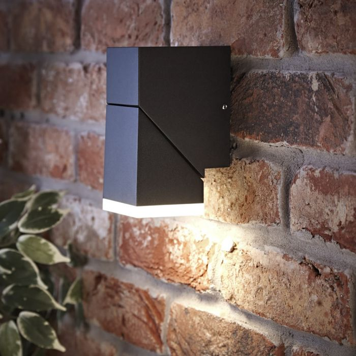 Biard Ziersdorf LED 8W IP54 Verstelbaar Op en Neer Licht Vierkant - Zwart