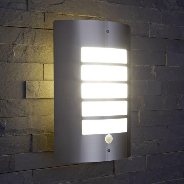 Orleans RVS Buitenlamp - Met Sensor
