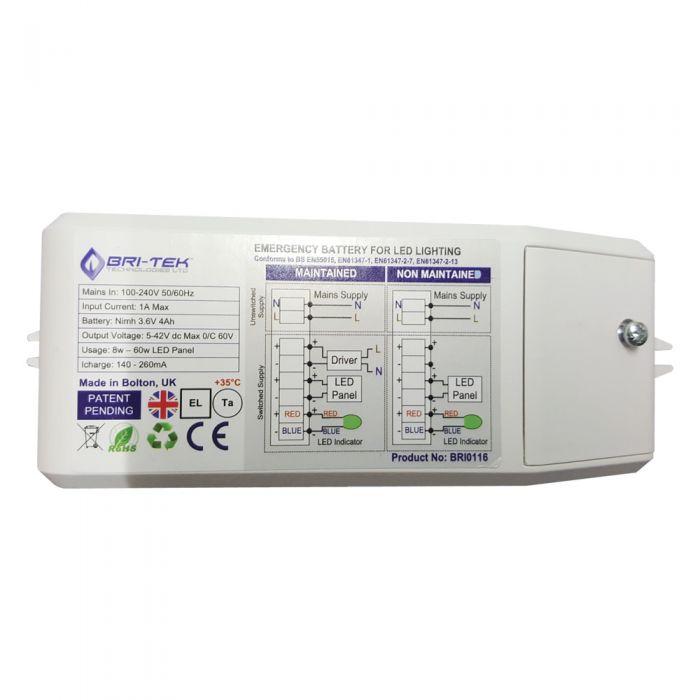 Bri-Tek Reserve Accu voor Paneelverlichting min 8W - max 60W