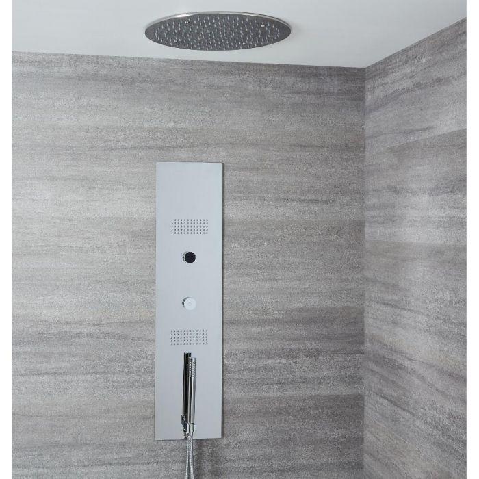 Narus 3-weg Thermostatisch Digitaal Inbouw Douchepaneel & Plafonddouchekop Diameter 40cm