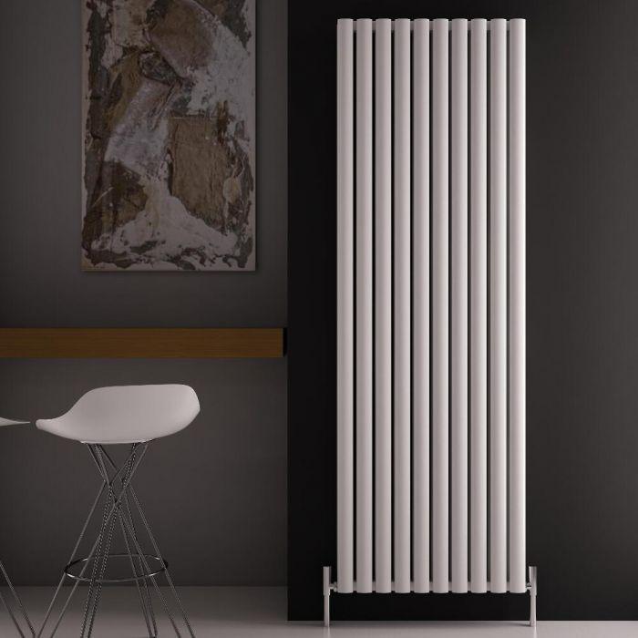 Revive Air Verticale Aluminium Dubbelpaneel Designradiator Wit 180cm x 59cm x 7,6cm  2506Watt