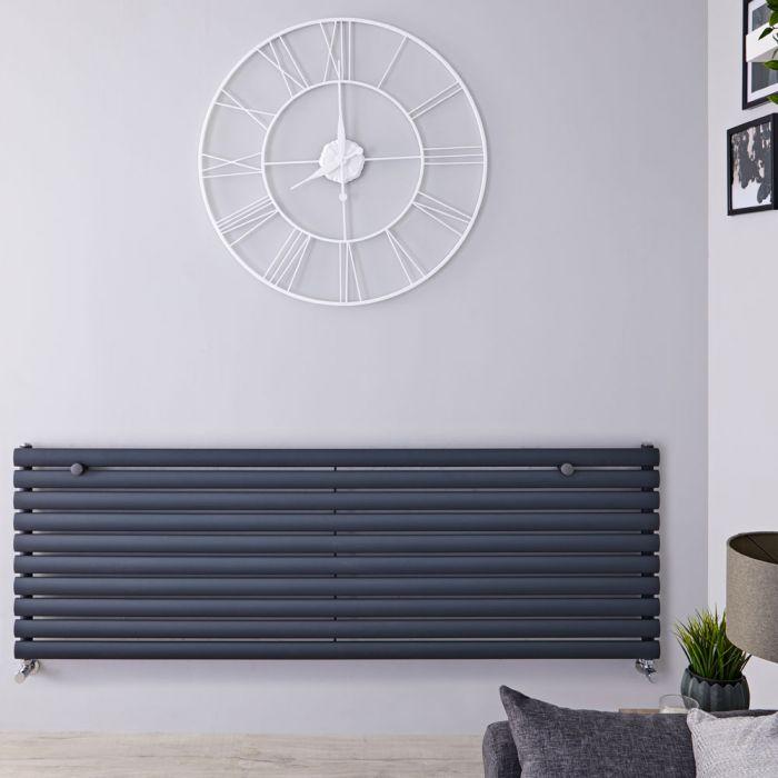Revive Designradiator Horizontaal Antraciet 59cm x 160cm x 5,5cm 1299 Watt