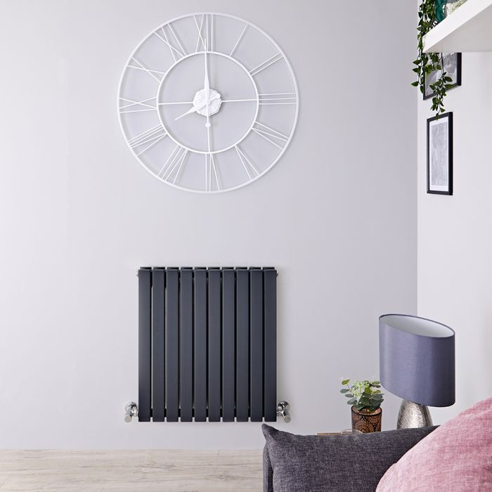 Sloane Designradiator Horizontaal Antraciet 63,5cm x 60cm x 7,1cm 934 Watt
