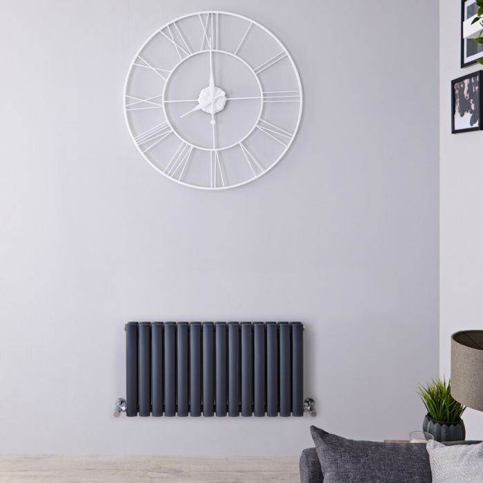 Revive Design Radiator Horizontaal Antraciet 40cm x 83,4cm x 7,8cm 619Watt