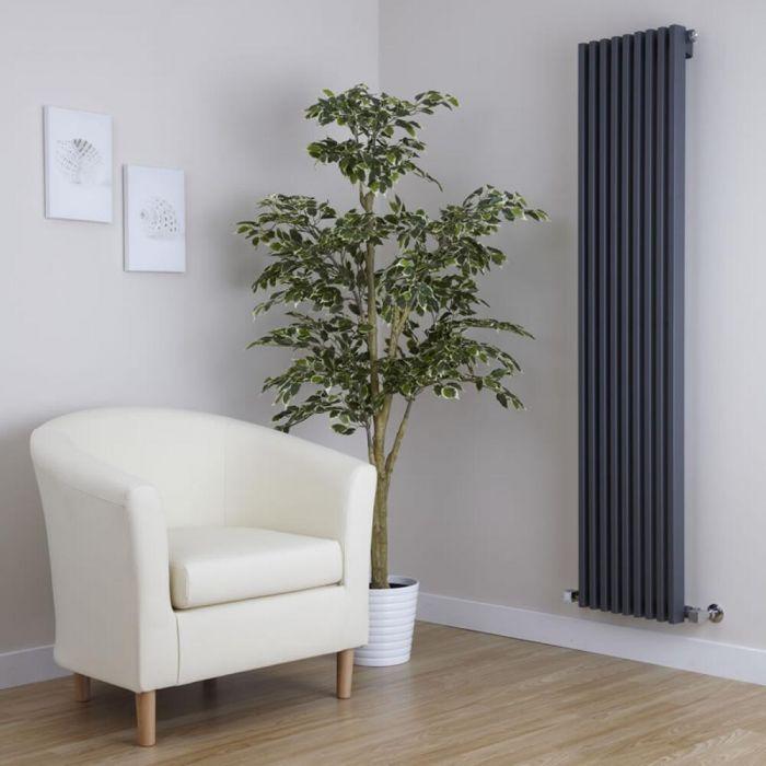 Parallel Designradiator Verticaal Antraciet 160cm x 34,2cm x 8,4cm 1053 Watt