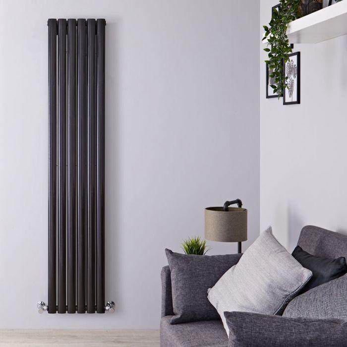 Revive Designradiator Verticaal Zwart 160cm x 35,4cm x 5,6cm 1228 Watt