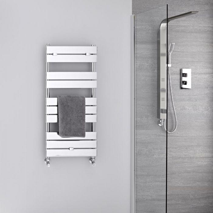 Lustro Verchroomd Handdoekradiator Staal Chroom 100cm x 45cm x4,5cm 310Watt