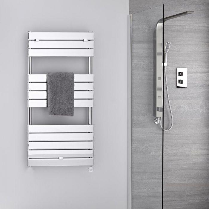 Verchroomd Stalen Elektrische Handdoekradiator incl 400 W Verwarmingselement - 121,3cm x 60cm