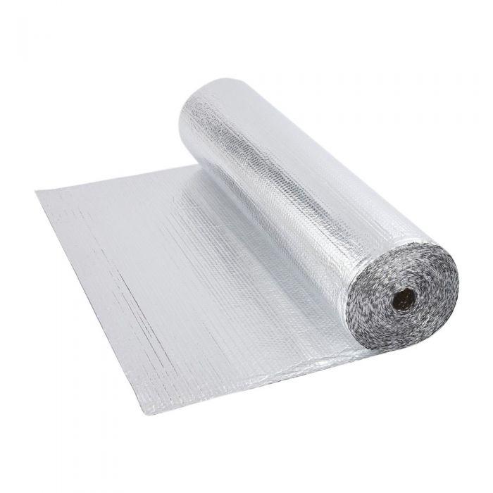 Dubbelzijdige Aluminium Isolerende Enkellaagse Noppenfolie - 10m x 1,2m