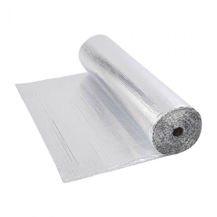 Dubbelzijdige Aluminium Isolerende Enkellaagse Noppenfolie - 25m x 1,2m