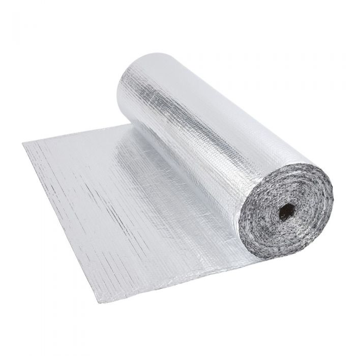 Dubbelzijdige Aluminium Isolerende Enkellaagse Noppenfolie - 40m x 1,2m