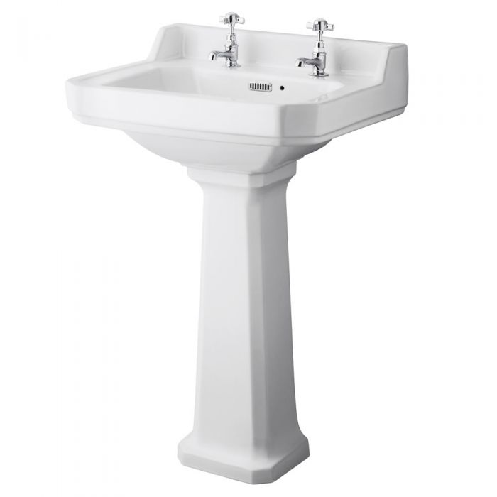 Richmond Wastafel - 56cm & Toilet excl. Reservoir en Keuze Toiletzitting