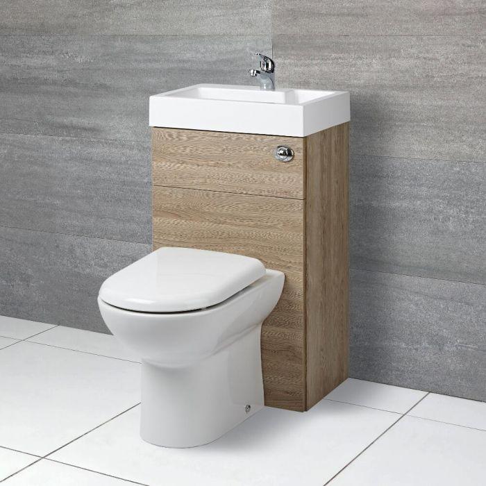 Toilet met ingebouwde wastafel - 50cm x 89cm x 85,7cm
