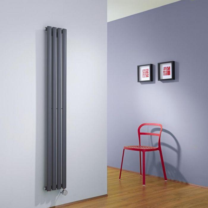 Revive Designradiator Elektrisch Verticaal Antraciet 160cm x 23,6cm x 5,6cm
