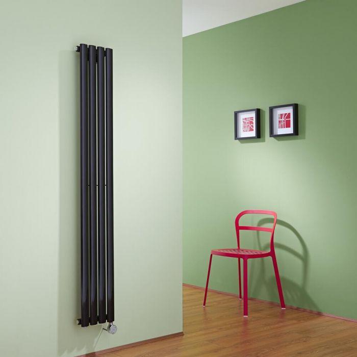 Revive Designradiator Elektrisch Verticaal Zwart 160cm x 23,6cm x 5,6cm