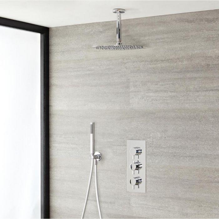 Doucheset 2-Weg Thermostatische Douchekraan 30cm Douchekop Plafondbevestiging & Handdouche - Modern