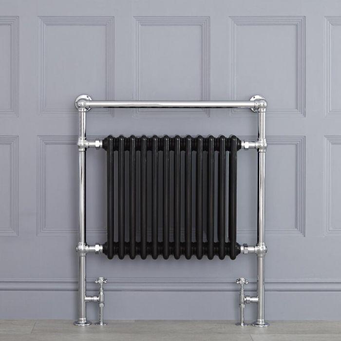 Avon Park Klassieke Handdoekradiator Chroom/Zwart 93cm x 79cm x 15,5cm 1047Watt